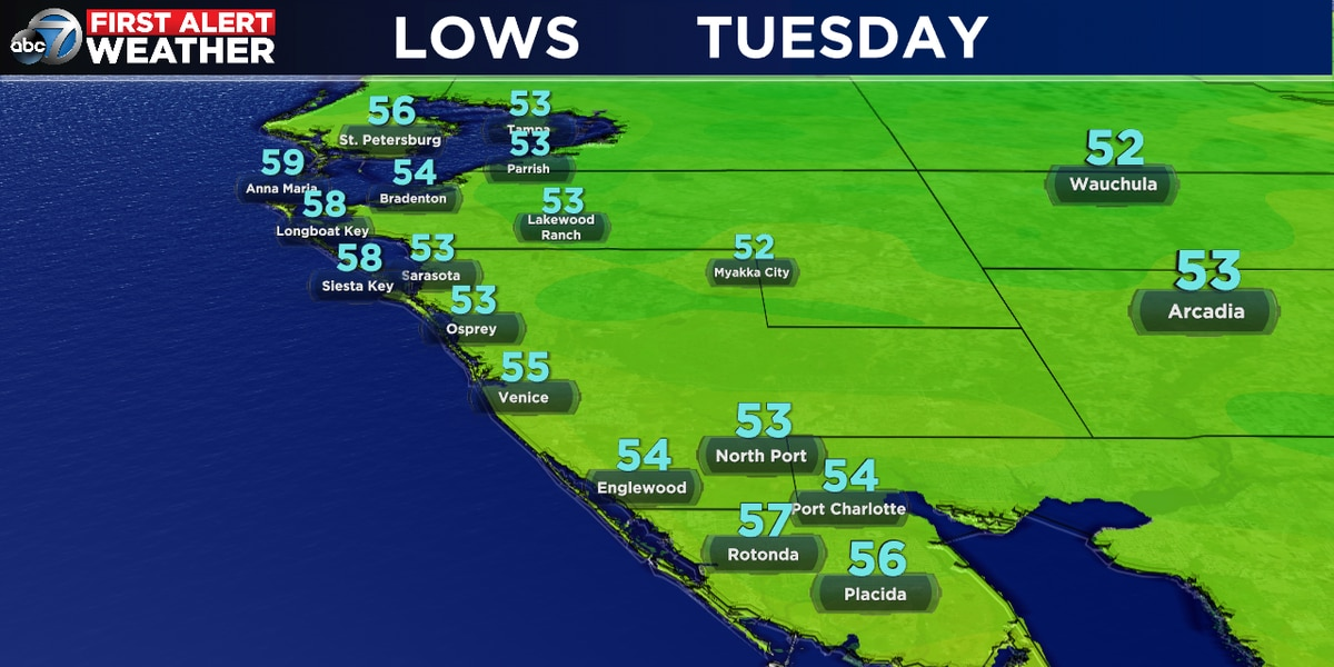 A chilly start to Tuesday