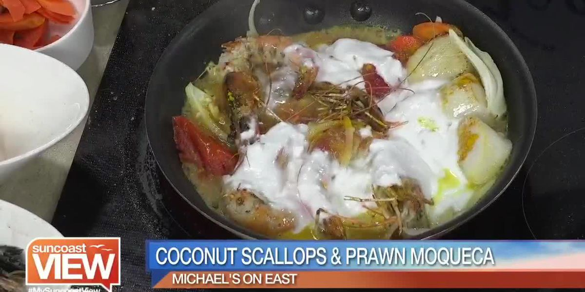 Coconut Scallops & Prawn Moqueca from Michael's on East & Cooking for Wishes | Suncoast View