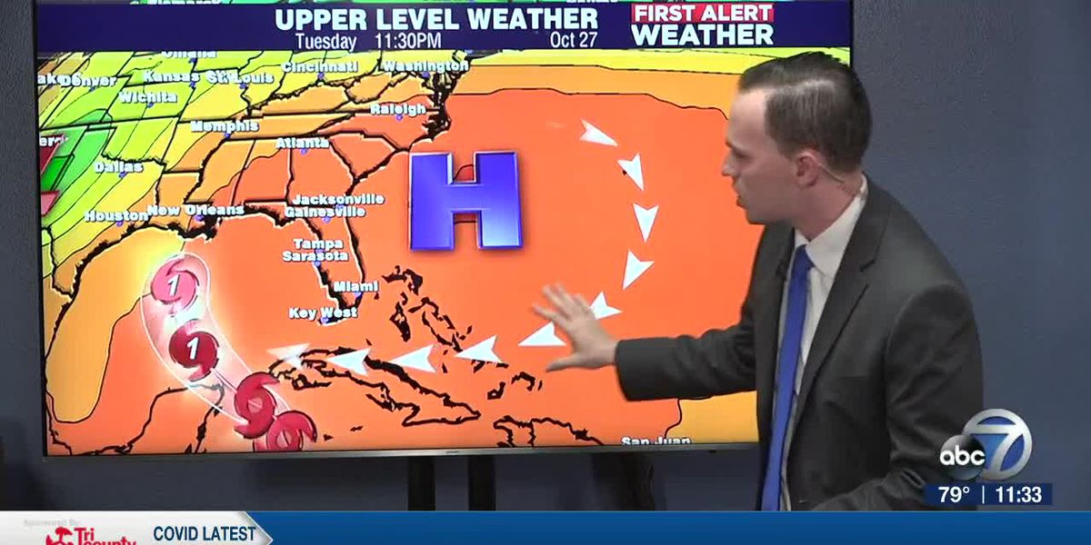 First Alert Weather: Saturday, October 24, 2020 - A chance for isolated showers & storms tomorrow and a tropical depression is churning in the Caribbean Sea