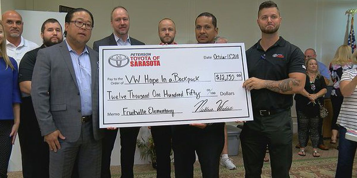 Toyota of Sarasota and local organization hope to fill hunger gap at Fruitville Elementary School