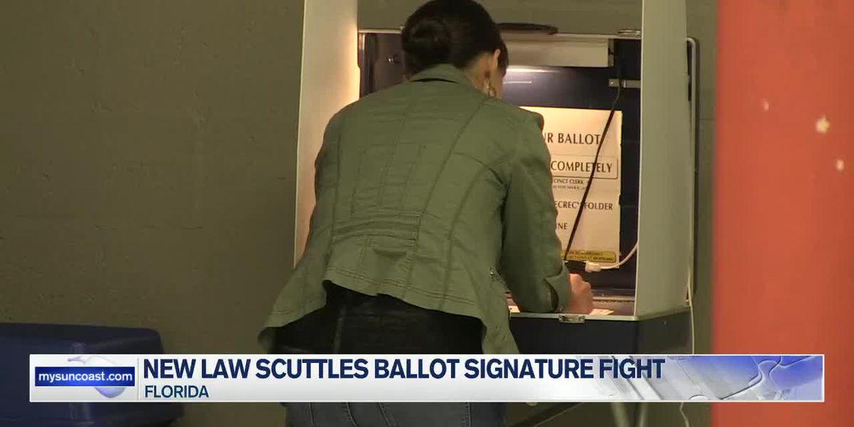 New law scuttles ballot signature fight