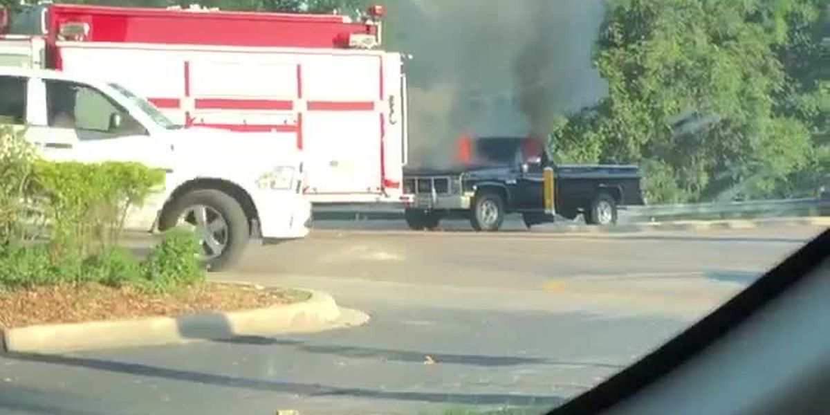 VIDEO: Truck caught on fire in Sarasota