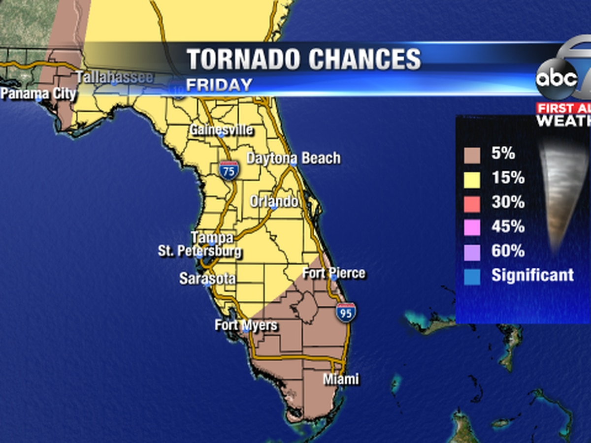 Strong to severe storms possible on Friday with a small chance for an isolated tornado