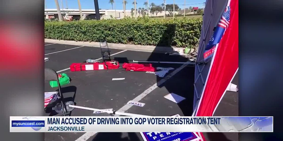 Man Accused of Driving Into GOP Voter Registration Tent