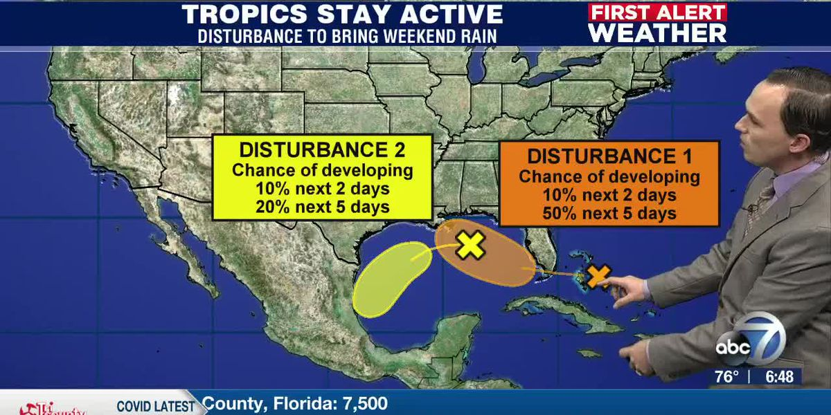 First Alert Weather: Friday, September 11, 2020 - Tropical Wave to move over South Florida over the weekend prompting a Flood Watch for coastal locations