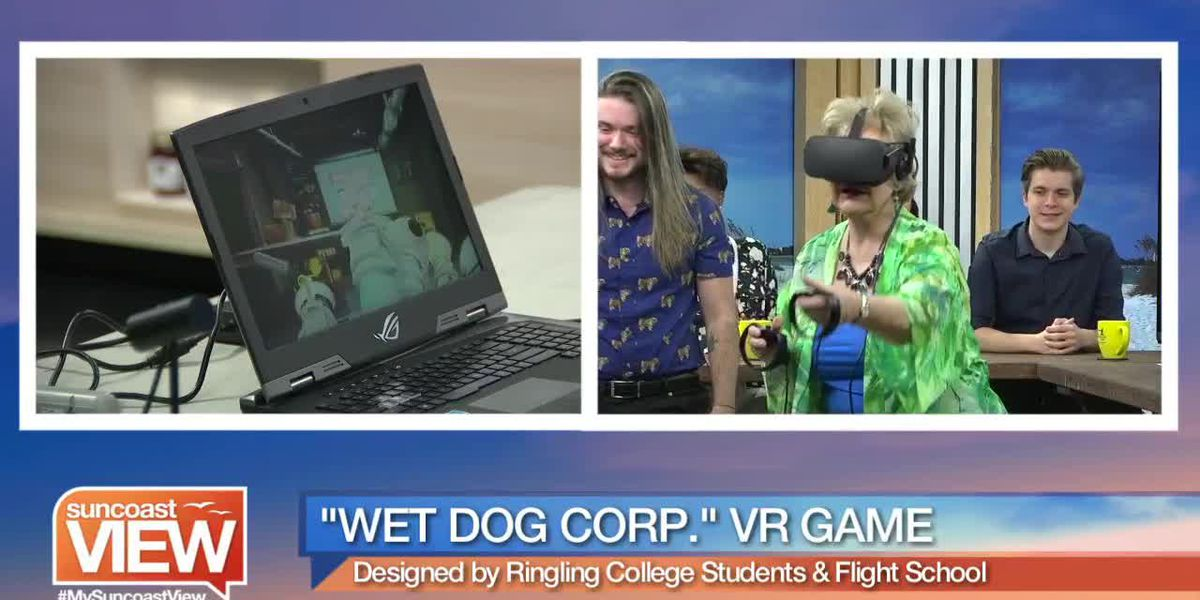 """Linda Tries Out VR Game """"Wet Dog Corp."""" Made by Ringling College Students! 