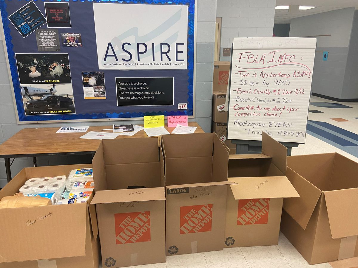 Lee Middle students collect supplies for those affected by Hurricanes Laura, Sally
