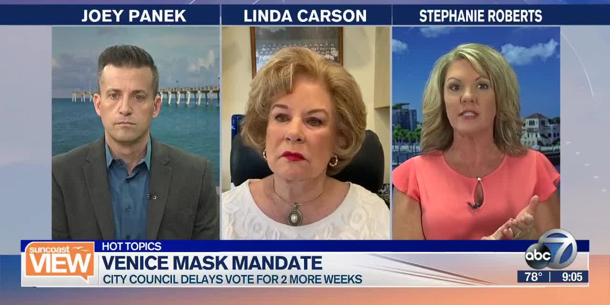 HOT TOPICS: Venice's mask debate, College testing, & Airplane seat covers | Suncoast View