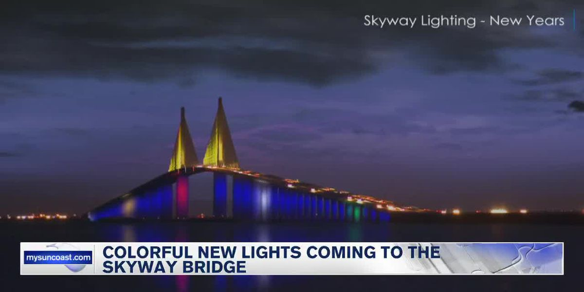 Colorful new lights coming to the Skyway Bridge