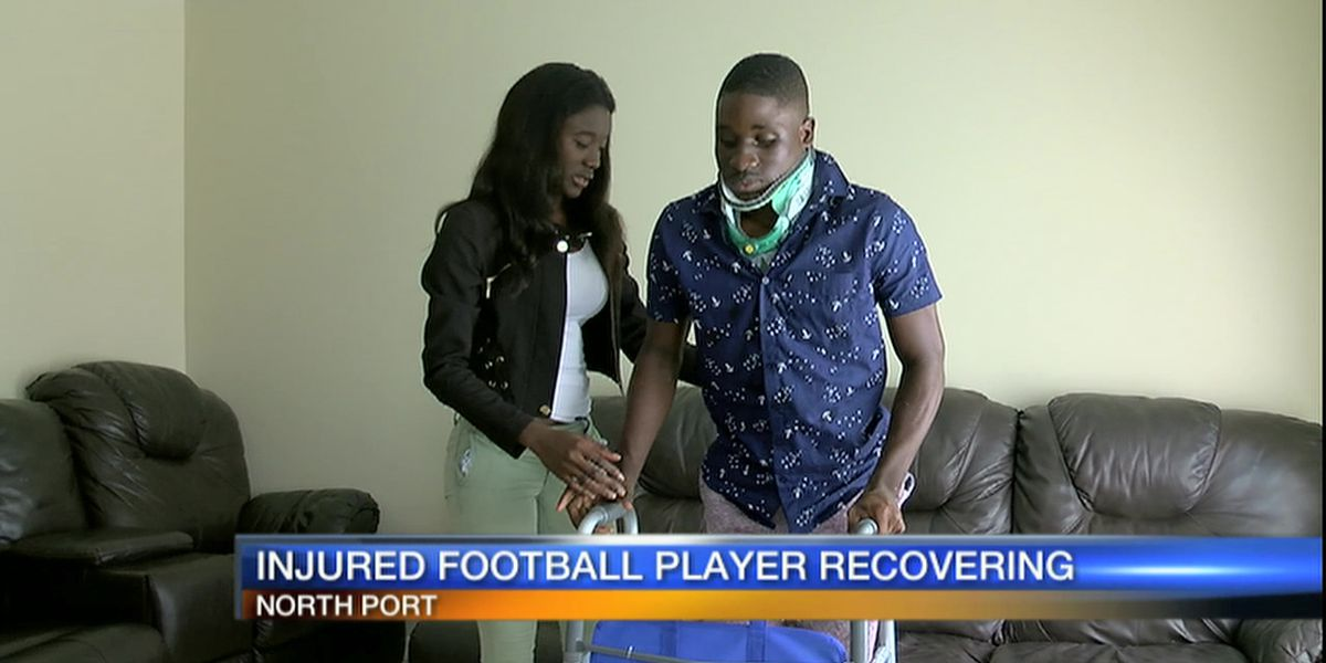 Video: Injured North Port High School football player continues long road to recovery