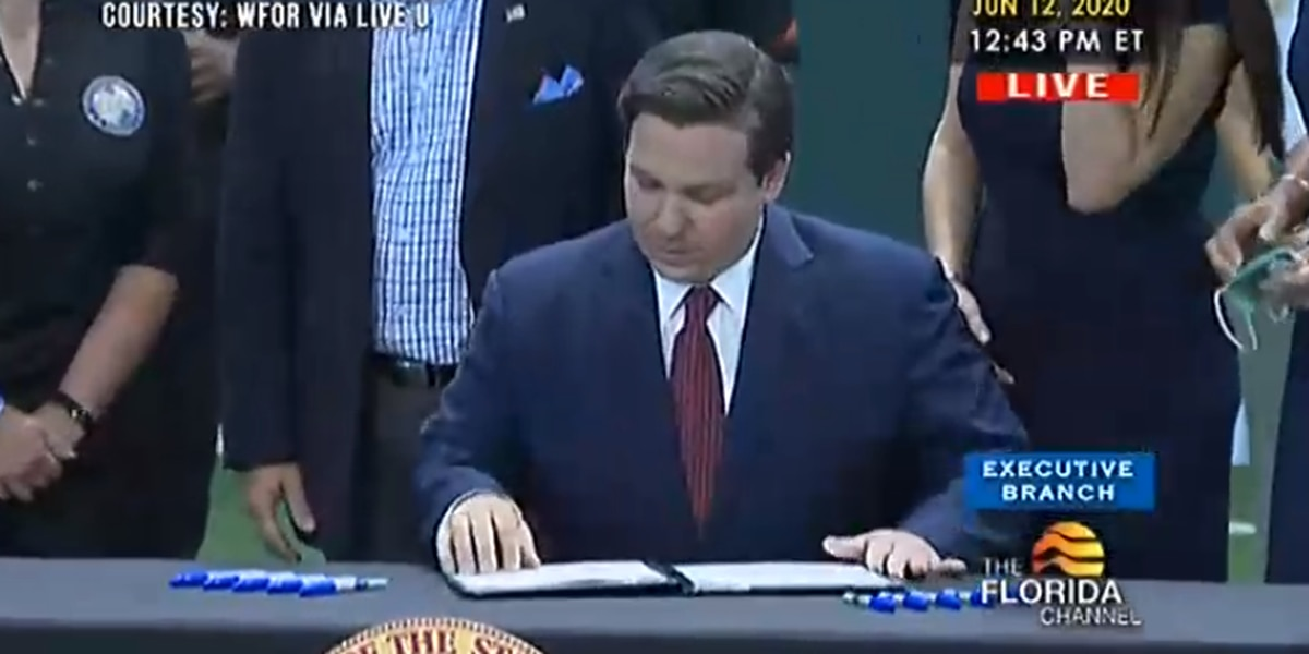 Gov. DeSantis signs 'Intercollegiate Athlete Compensation and Rights' bill