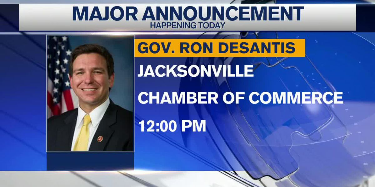 Governor DeSantis to make major announcement in Jacksonville today