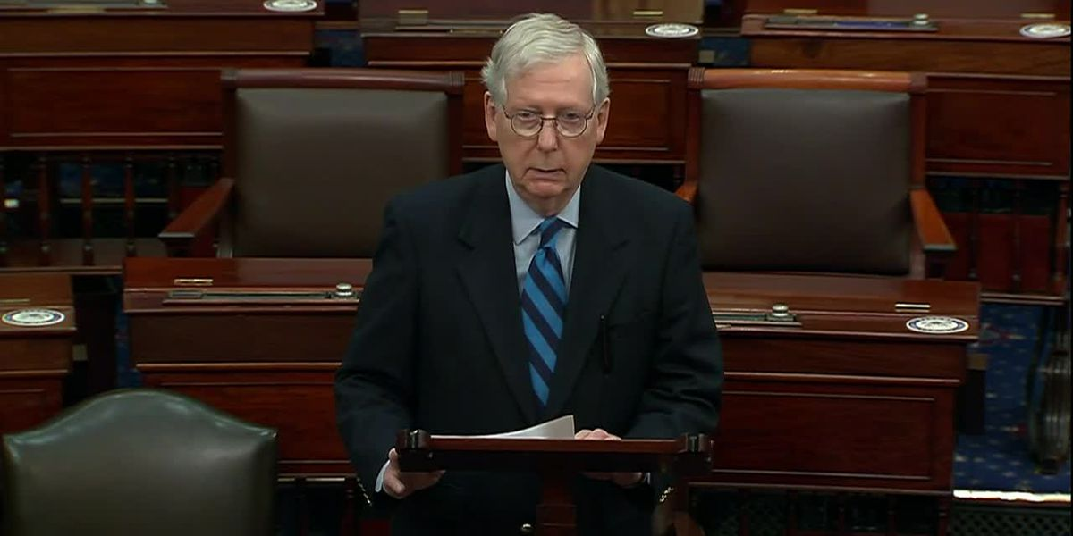 McConnell says 'mob' that attacked Capitol was 'provoked' by Trump and 'fed lies'