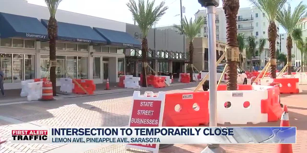 Lemon and Pineapple intersection temporarily closed in Sarasota