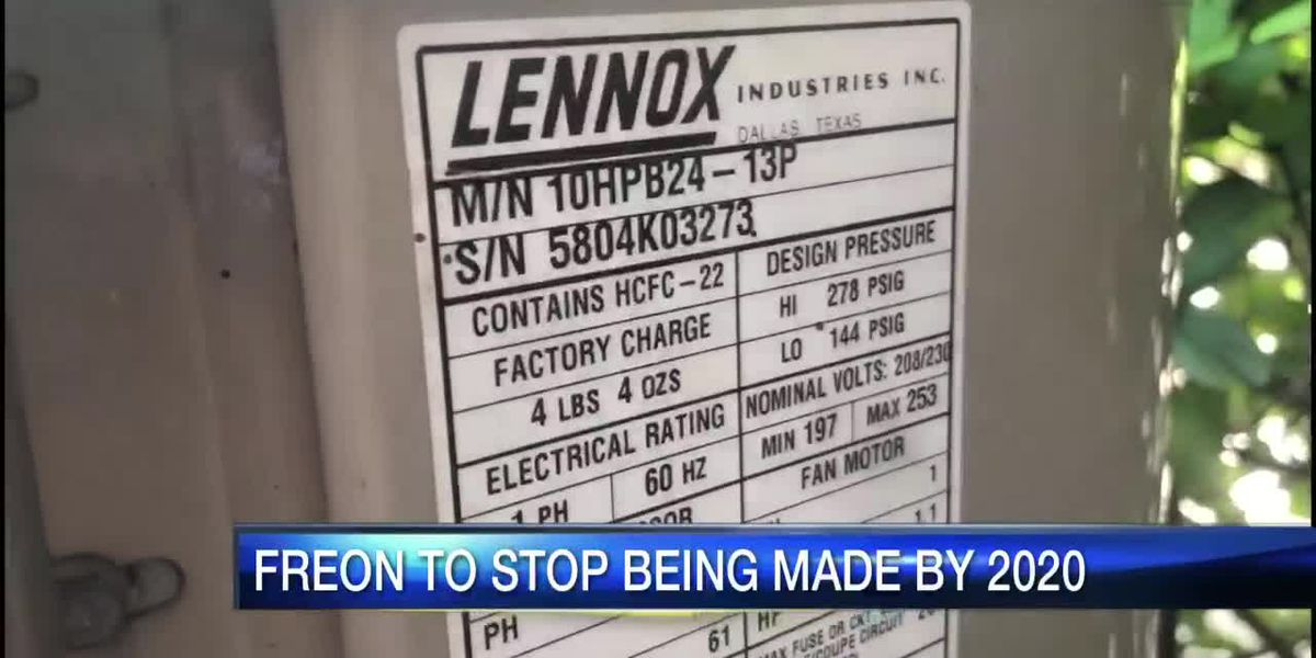 Freon to stop being made by 2020