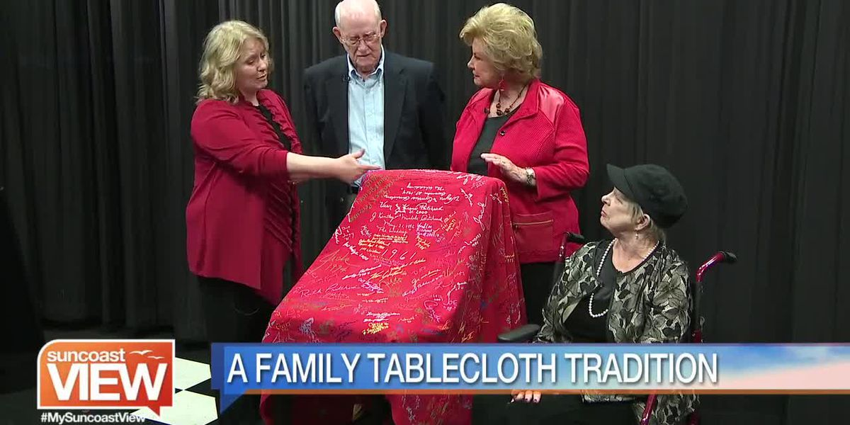 A Suncoast Family Brings their Holiday Tablecloth Tradition | Suncoast View