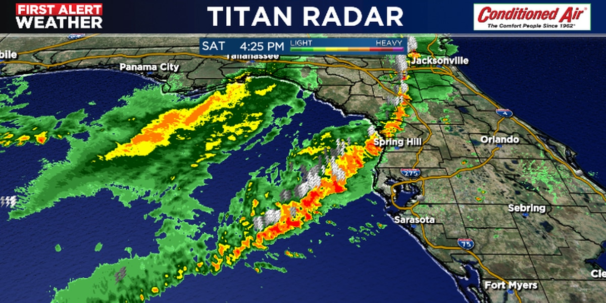 Tracking storms headed to the Suncoast