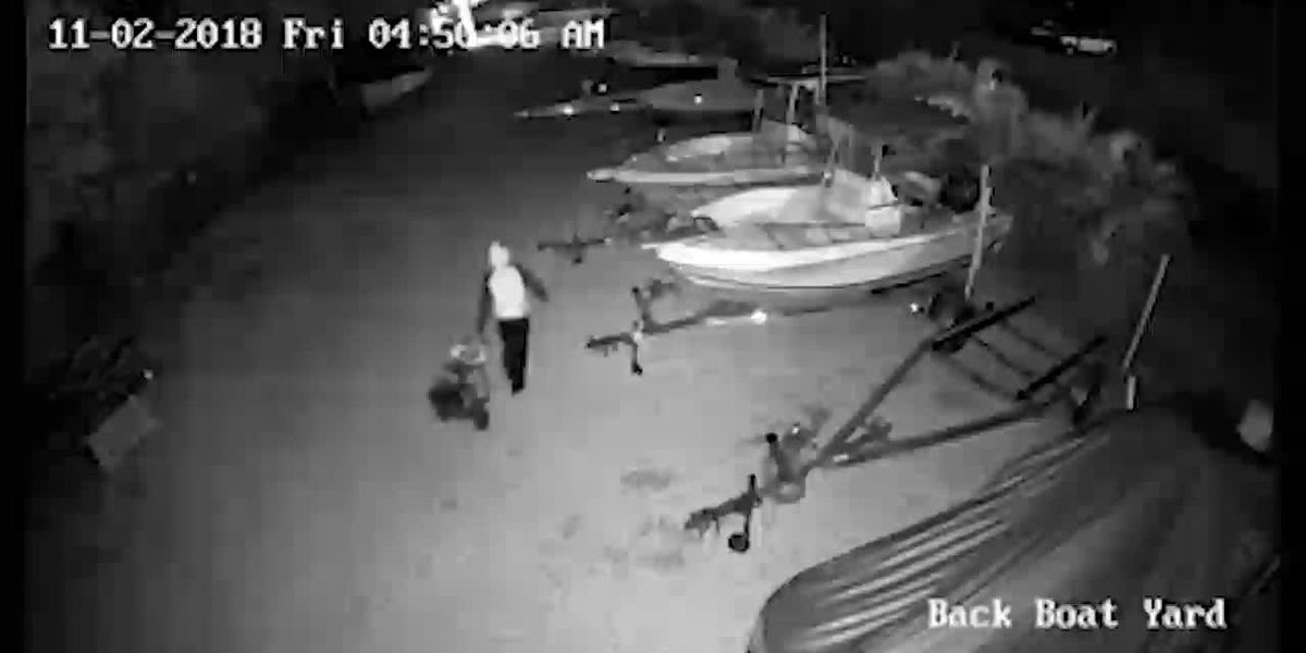 VIDEO: Man steals thousands of dollars worth of tools from boat storage facility