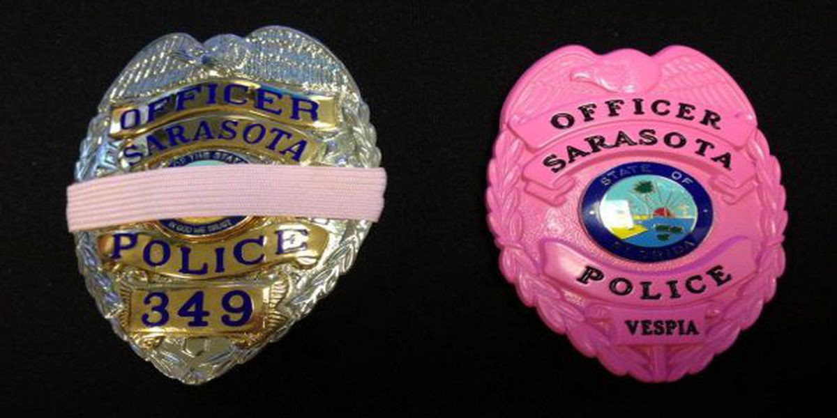 Sarasota Police Officers to wear pink badges for Breast Cancer Awareness Month