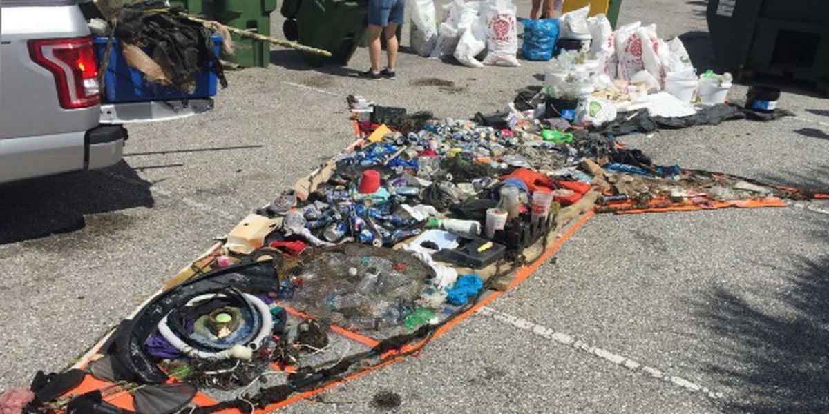1,240 pounds of trash pulled from Sarasota Bay