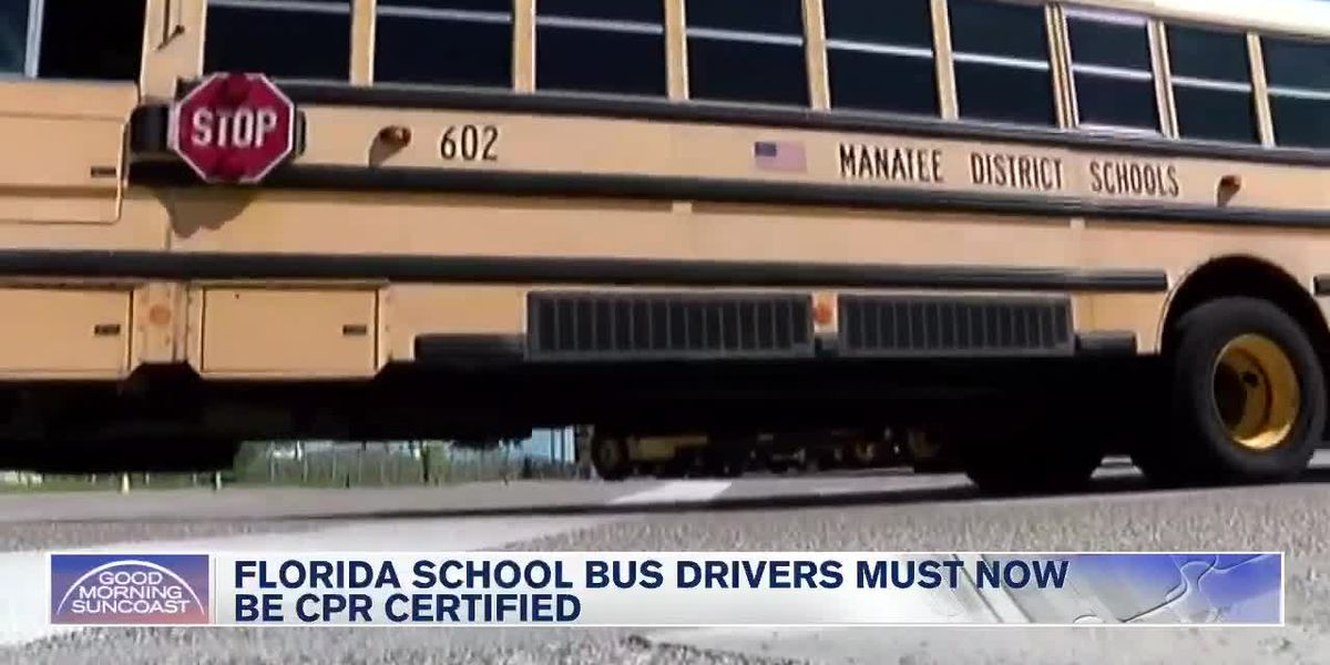CPR training now required for Florida school bus drivers