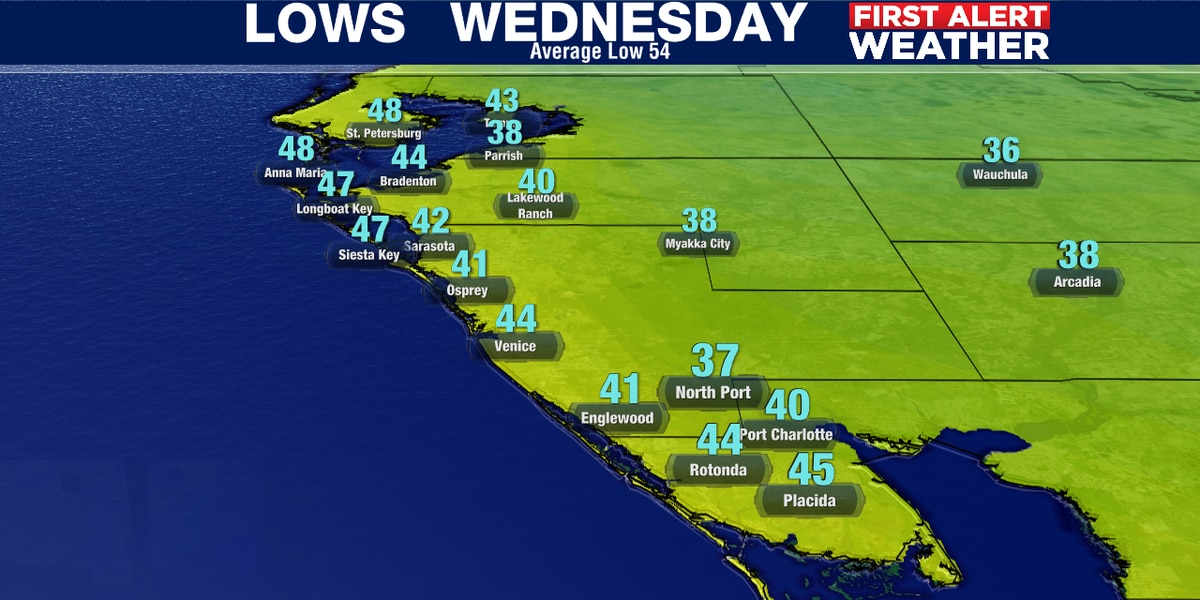 Brrrrrrrr!.....A frosty forecast for parts of Suncoast