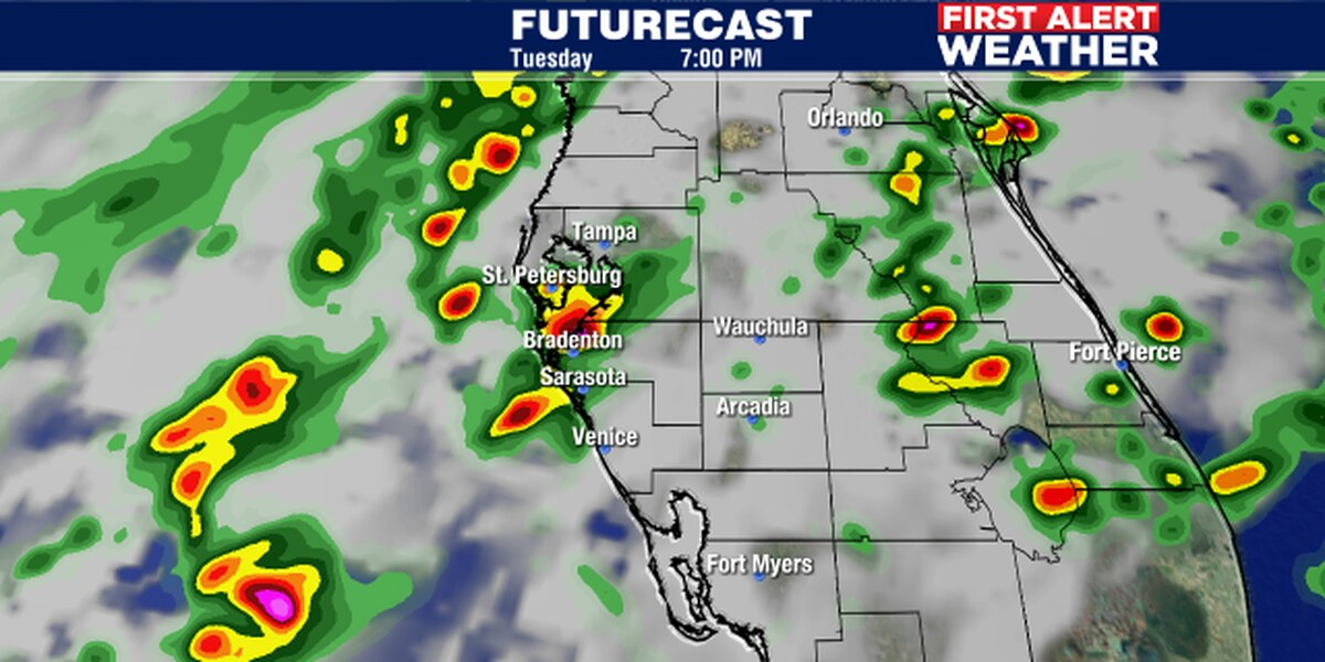 Cold front to bring storms to Suncoast Tuesday