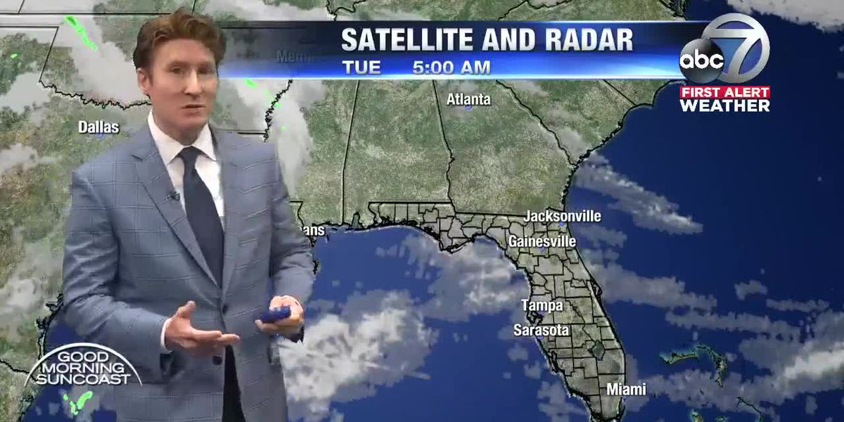 Tuesday's Suncoast Forecast