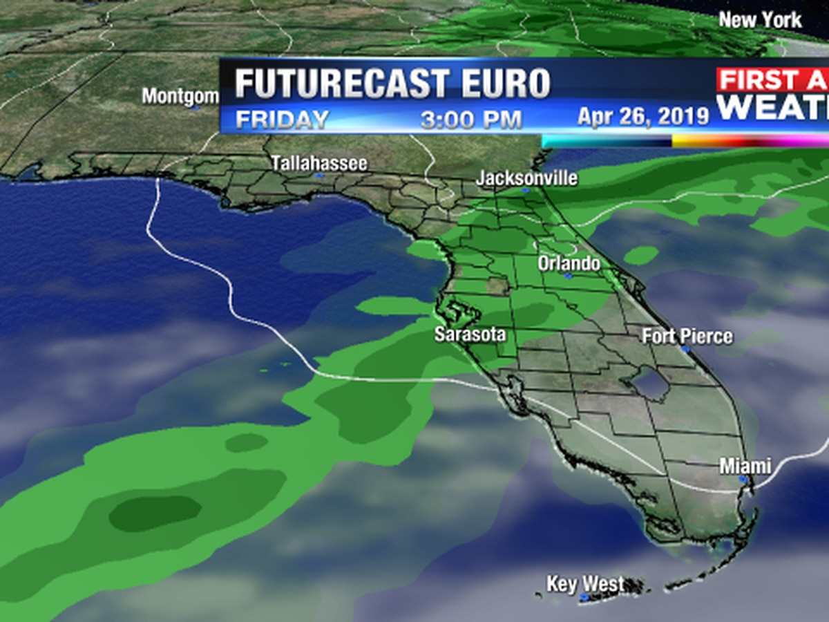 Storm system to sweep a cold front our way on Friday