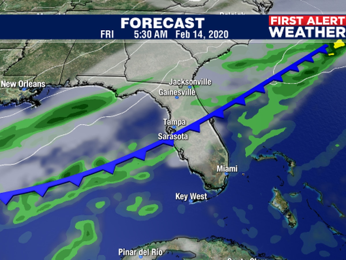 A cold front to bring some changes later this week