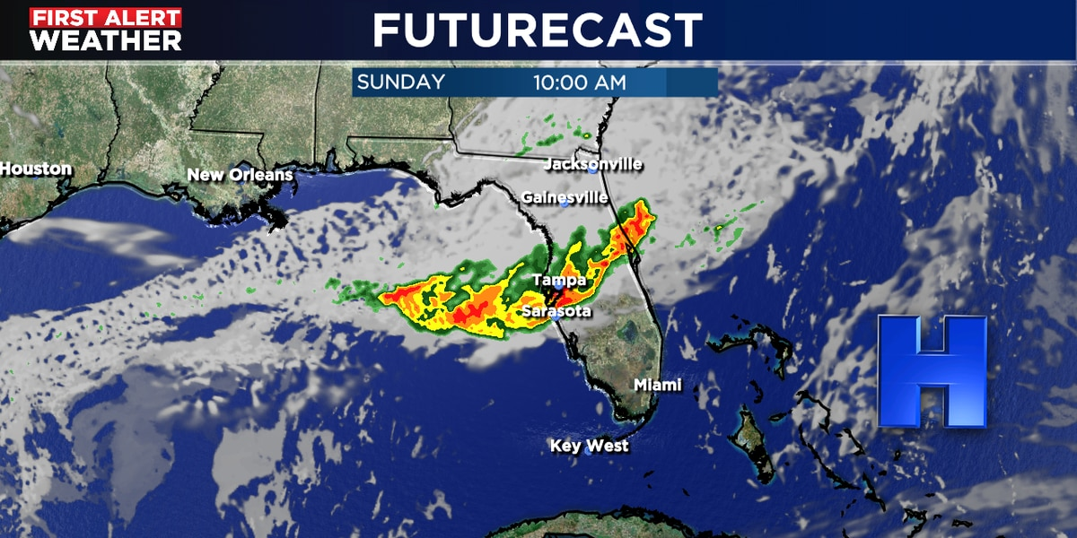Strong to severe storms possible Sunday