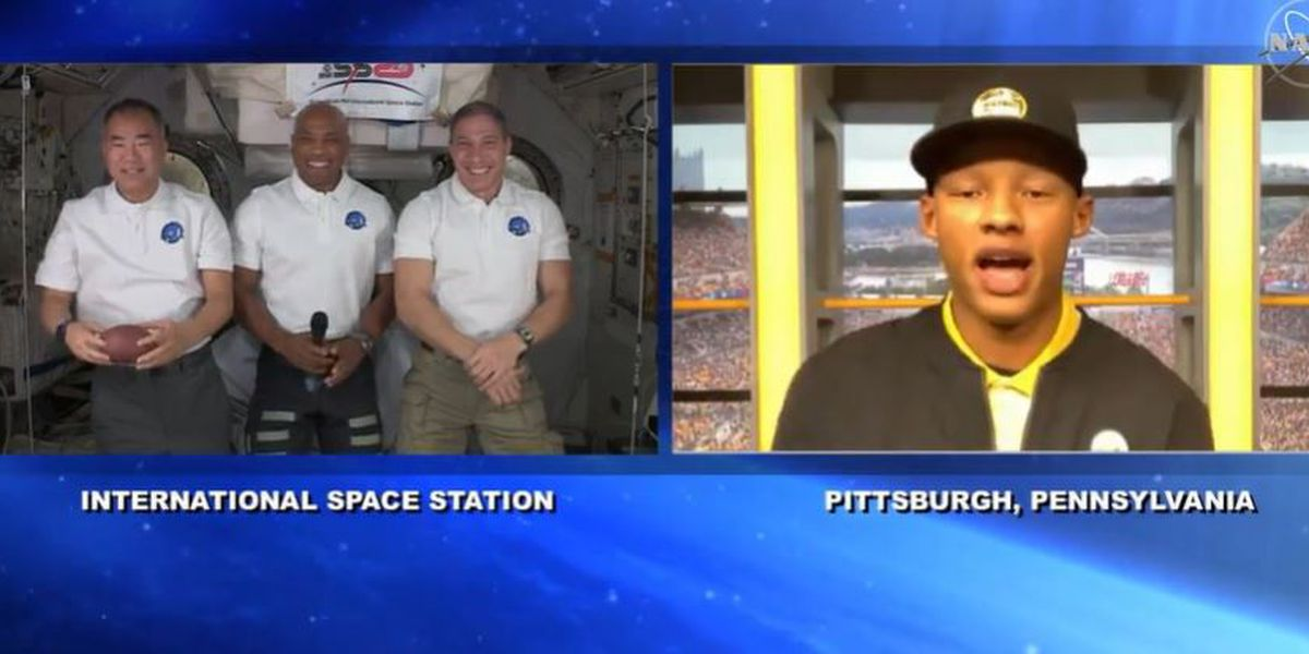 Pittsburgh quarterback gets to host interview with astronauts on International Space Station