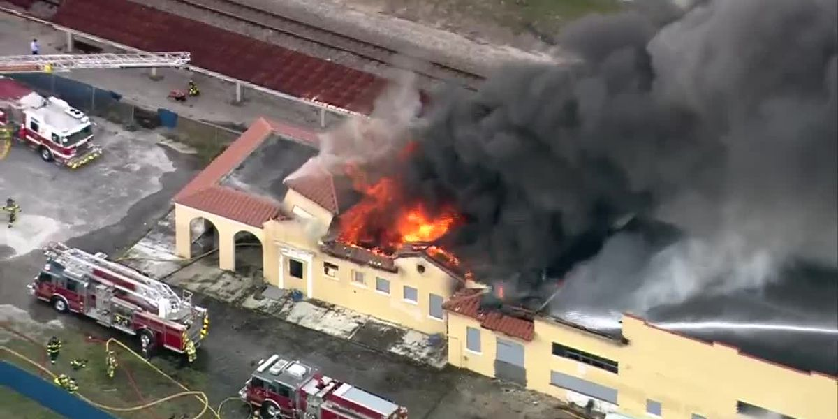 Four Florida teens face charges in train depot fire