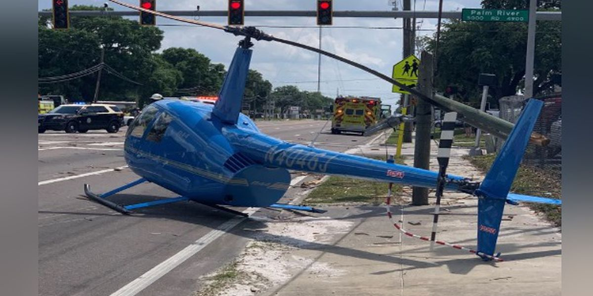 Helicopter rotor blade hits truck during crash in Hillsborough County, killing truck's passenger