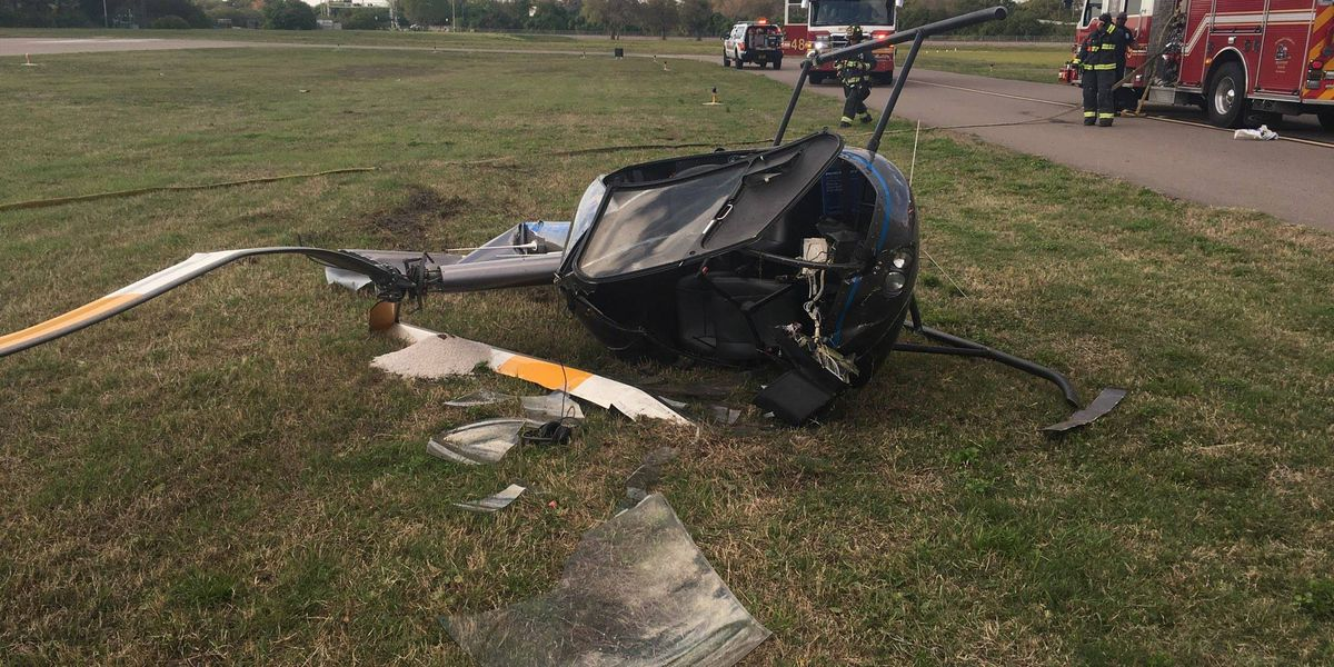 Two people injured in helicopter crash in Clearwater