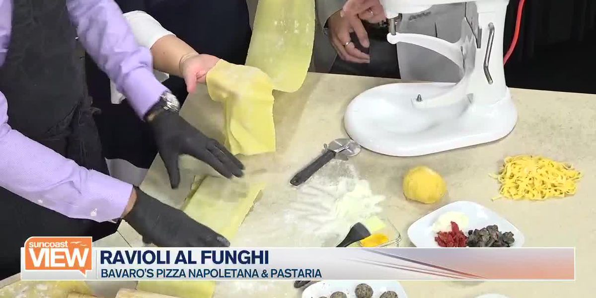 Bavaro's Shows How to Make Ravioli Al Funghi in Our Kitchen | Suncoast View