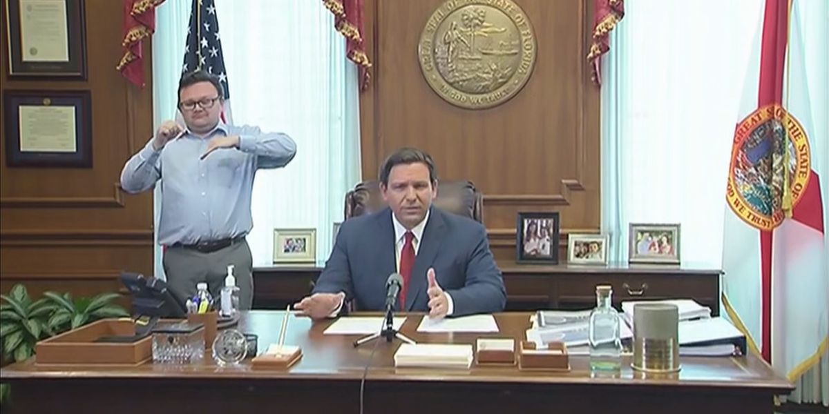 Governor Ron DeSantis issues executive order for Florida residents to stay at home