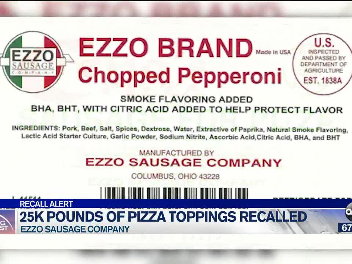 Ezzo recalling 25,000 pounds of meat due to possible listeria contamination