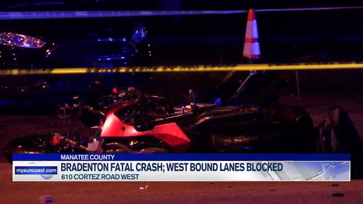 Motorcyclist killed in crash on Cortez Road in Bradenton
