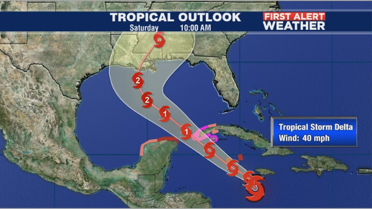 First Alert Weather: Tropical Storm Delta forms and is strengthening in the Caribbean Sea