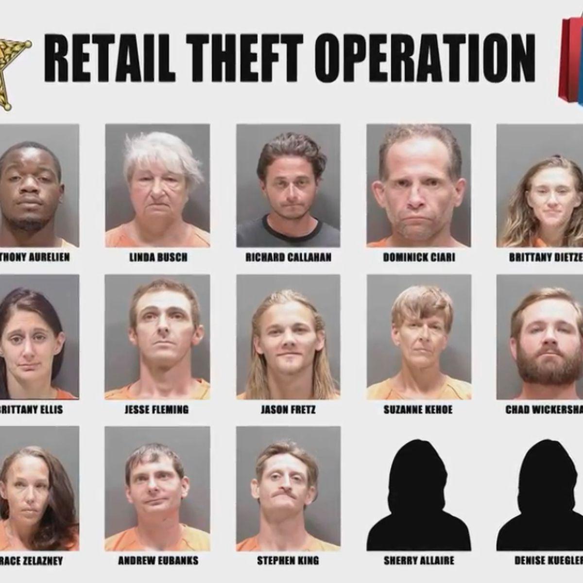 Sarasota County Deputies arrest 15 in Retail Theft Operation