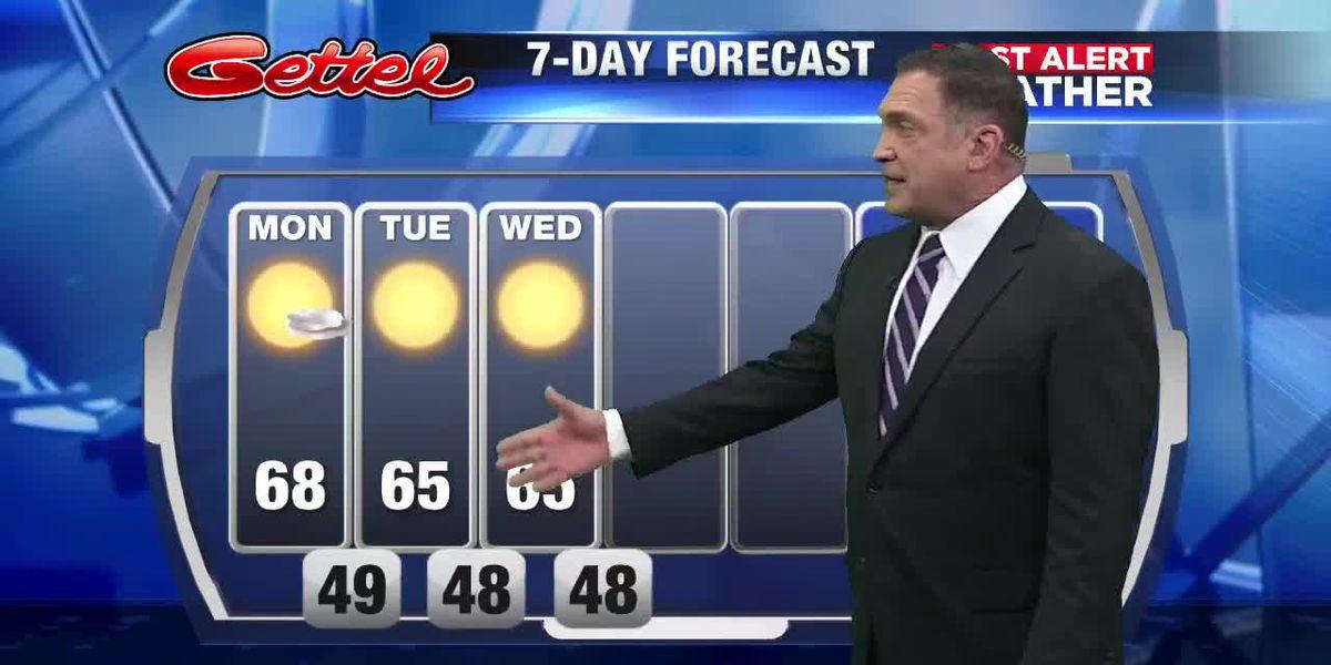 First Alert Weather: Below average temperatures this week