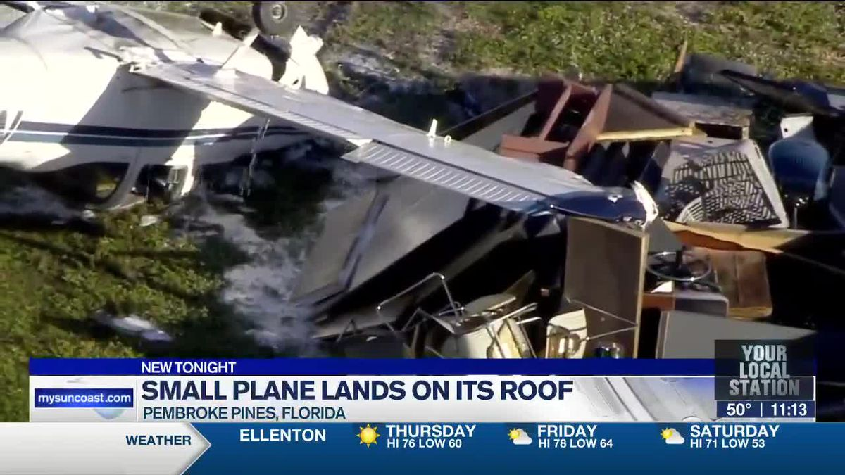 Small Plane Lands on It's Roof