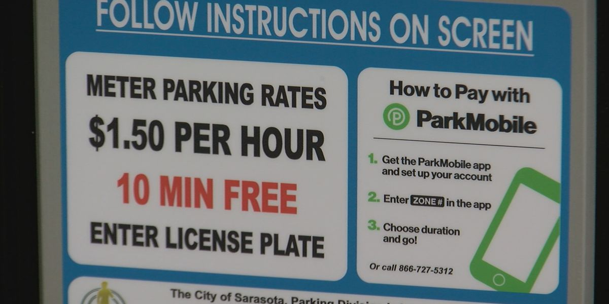New paid parking meters in effect in downtown Sarasota