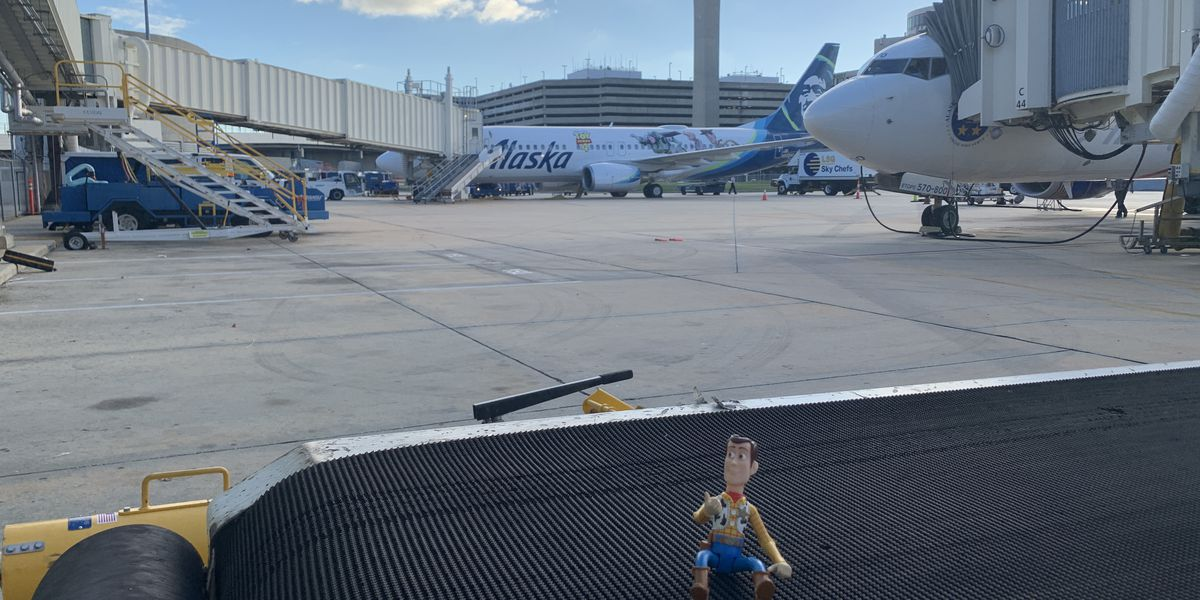 Toy Story's Woody has a friend in Tampa International. Airport is searching for toy's owner.