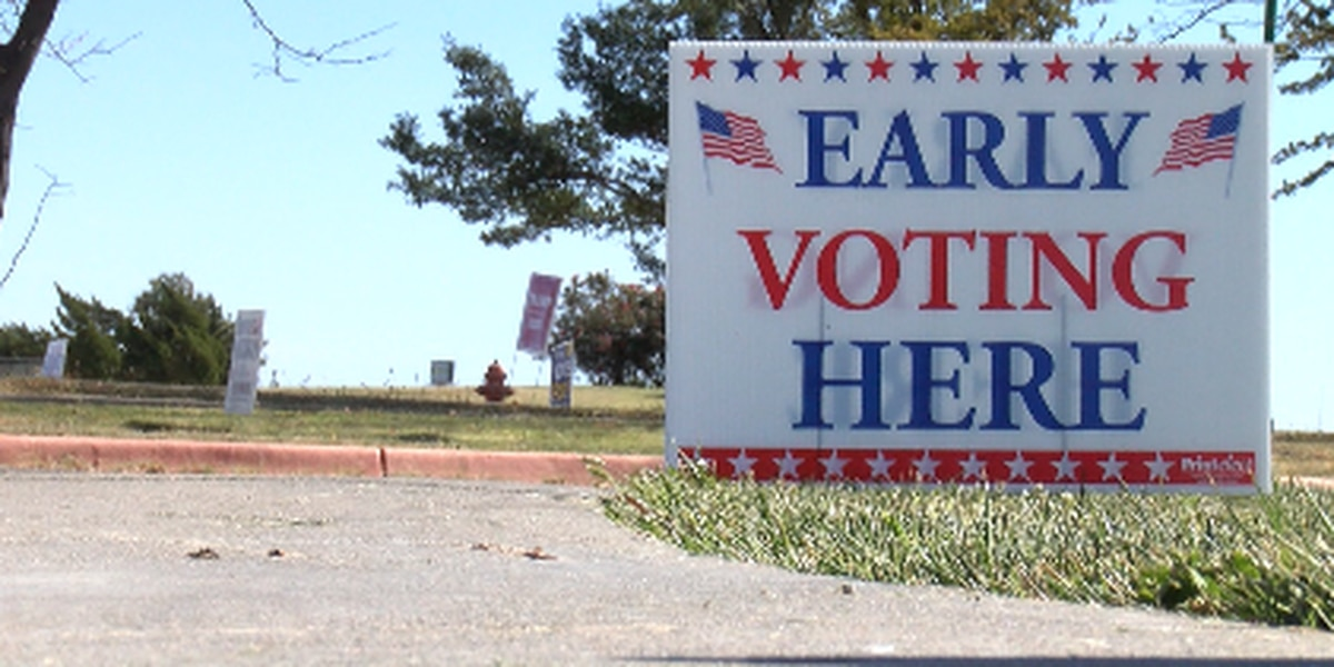 Voters out rallying ahead of early voting starting on Monday October 19
