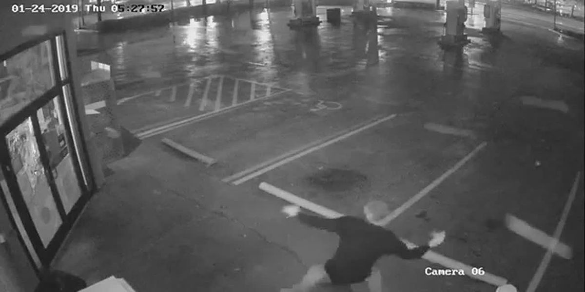 VIDEO: Invincible door stops wannabe burglar, who was armed with a brick