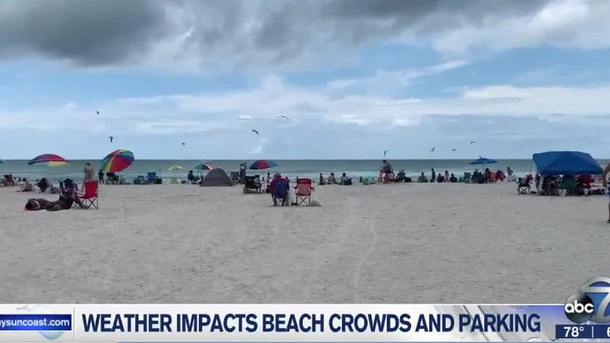Weather impacts beach crowds and parking on Memorial Day