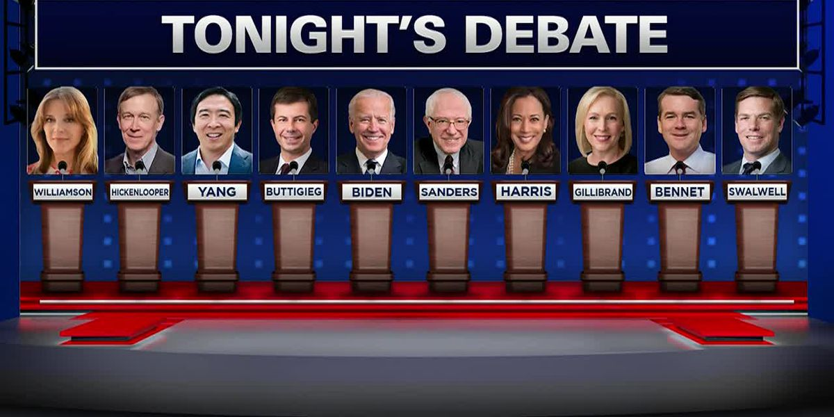 Second group of Democratic presidential candidates to spar