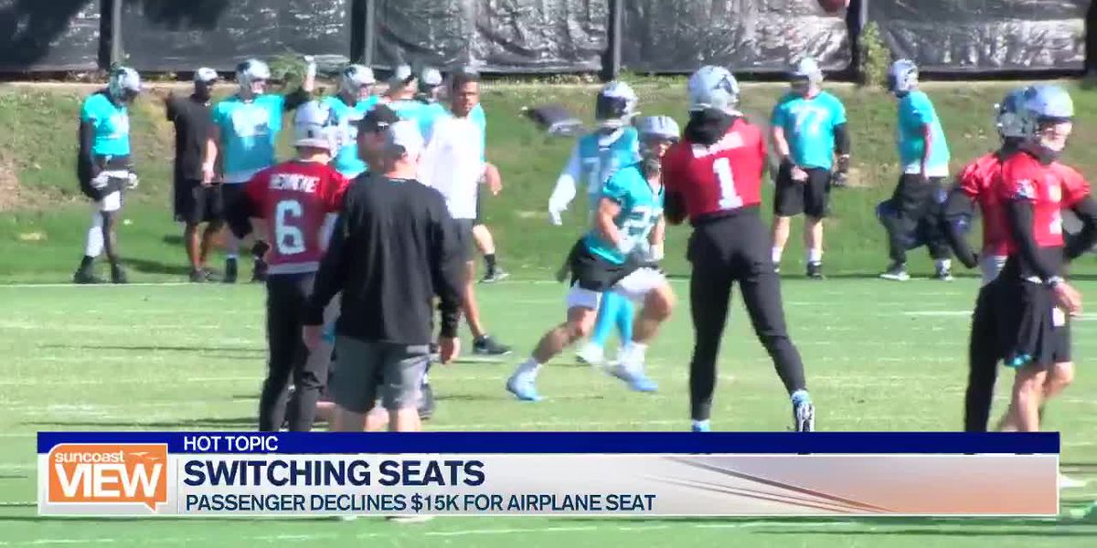 TRAVEL TALK: Swapping airplane seats - Cam Newton